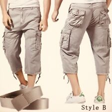 """Men's cargo/combat shorts with belt in size 32"""". Casual, summer, fashion-NEW"""