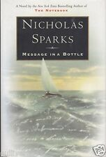 Message in a Bottle by Nicholas Sparks (1998, HardcoverDJ~4th Printing~New)