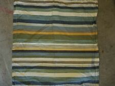 "Pottery Barn ""Logan Stripe - Blue/Green/Yellow"" Euro Pillow Sham"