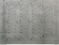 ANNALES PONTS et CHAUSSEES (Dep 24) pont de cubzac sur la dordogne - 1889