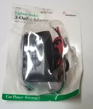 RadioShack 12 Volt Lighter Socket 3-Outlet Adapter With Accessories 270-1561