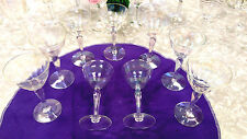 Wine glass after dinner glass pearl like crystal goblet and stem vintage