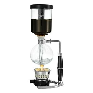 Osaka Siphon Coffee Maker Borosilicate Glass & Steel Vacuum Coffeemaker 4 Cups