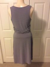 Athleta Women's Adrianna Dress Gray Sleeveless Wrap Athletic Size Small NWOT
