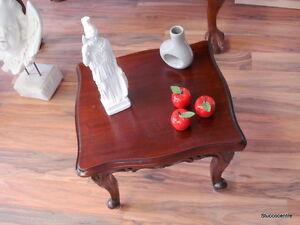 kleiner Tisch Echt Holz massiv Mahagoni Deko Beistelltisch schöne Ablage edel
