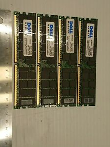 Dell 16GB 4x 4GB Memory (SNPX1564/4G) PC2-3200 CL3 DDR2-400 ECC RDIMM