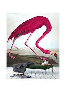 "Canvas Vintage art print painting bird pink flamingo 36""  John Audubon"