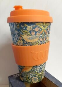 Organic Bamboo Fibre Reusable Coffee Cup by William Morris Gallery 14 oz