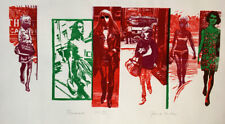 Frank Martin Promenade 1969 Signed Limited Edition Woodcut