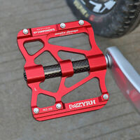 """3 Bearings MTB Road Bike Pedals 9/16""""Carbon Aluminum Bicycle Flat Pedals Sealed"""