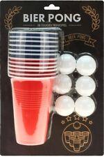 Trinkspiel Partyspiel Feierspiel Beer Bier Pong mit 6 Bällen & 12 Trinkbechern