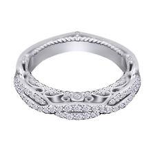 0.50 Ct Diamond 10k White Gold Vintage Wedding Band Ring for Women's