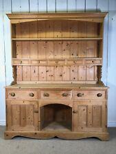 Solid Pine Welsh Kitchen Dresser. Farmhouse Rustic Sideboard Storage.