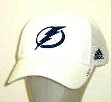 Tampa Bay Lightning adidas Coaches Structured Aeroready Mesh White Hat / Cap
