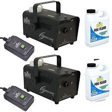 Chauvet Hurricane 700 H700 Halloween Smoke/Fog Machine W/ Fluid & Remote 2Pack