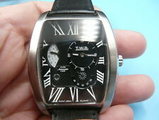 New Old Stock T.W.S. Vivre Jumbo 40mm Black Face 22 Jewels Automatic Men Watch