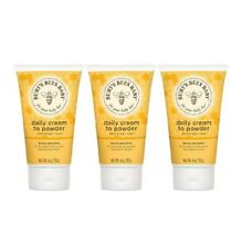 New listing 3 Burts Bees Daily Diaper Cream to Powder Baby 99% Natural 4 Ounces Each