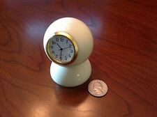 Handmade Billiard Ball Cue Ball Desk Clock  Black/Silver/Gold - Unique Gift!