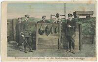 Zeebrügge Sailors Matrosen Feldpost 1917 Militaria German WW1 Postcard (2098)