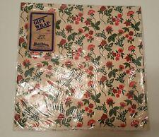 "Vintage Jillson & Roberts Floral Gift Wrap 2 Sheets 20"" x 30"" 8.5 Sq. Ft."