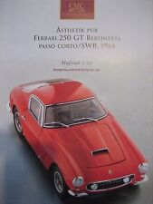 Prospekt CMC Ferrari 250 GT Berlinetta Passo Corto SWB 1961 rot, M-046, RAR