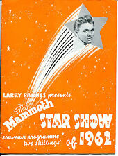 Original UK Tour progamme : Larry Page presents The Mammoth Star Show of 1962