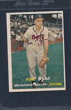 1957 Topps #127 Bob Buhl Braves EX 57T127-82216-2