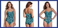 Lands' End ~ Beach Living One Piece Women's Swimsuit UPF-50 NIP $84