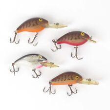 Lot 4 Rebel fishing lures Wee R Fastrac Humpy Deep Wee R 1 each Crankbait