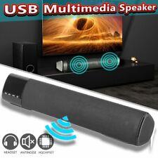 Sound Bar subwoofer USB AUX MP3 Music Player Boom Box for Phone TV Computer qR