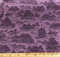 Hoffman Intl Kimono Collection Asian Print on Purple/Lav Ctn Fabric