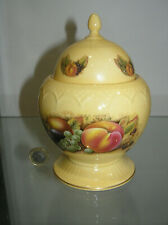 """BEAUTIFUL AYNSLEY ORCHARD GOLD DOME TOP LIDDED GINGER JAR POT 7""""  1ST QUALITY"""