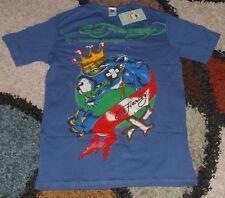 Ed Hardy Woman Screen Printed Tee shirt Blue Size M