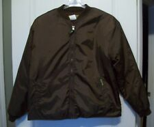 Remington Outdoor Clothing brown nylon jacket coat men's M fleece lined zip up