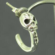 Totenkopf Klaue Ohrstecker Ohrring echt 925 Silber 1 Stück Biker Gothik O012