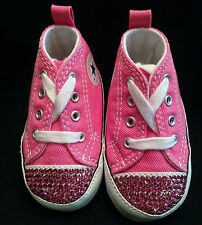 Custom CONVERSE First Star Infant/Crib Pink Rose Swarovski Toes and Heel Tab