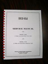 Rock-ola Service Manual 1544 Wall Box & 1715 Receiver