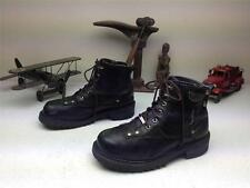 DISTRESSED MILWAUKEE LACE UP ZIP UP MOTORCYCLE BIKER BOOTS 10.5 D