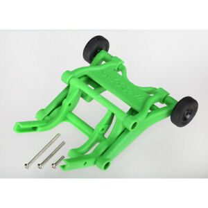 Traxxas 3678A: wheelie bar, assembled (green) TRAXXAS
