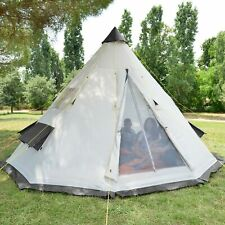Skandika Tipii Tente Camping Tipi Indien 6 pers. Hauteur:2,5m Marron NEUF