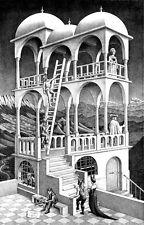 M C Escher belvedere print canvas giclee 8X12&12X17 reproduction poster illusion