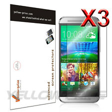HTC One M8 Screen Protector 2014 (Verizon/AT&T/Sprint) Premium HD Clear (3-Pack)