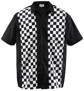 Size XXL Herren Bowling Shirt Work Hemd Karo checkered ska Rockabilly kariert