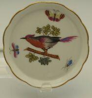 """HEREND PORCELAIN ROTHSCHILD BIRD BUTTER PAT 3"""" OR COASTER  VINTAGE"""