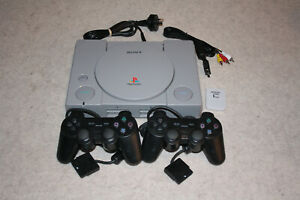 Sony Playstation 1 Console - With 2x Controllers + Accessories TESTED