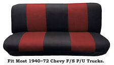 Mesh Black/Red This Seat Cover Fits Most Models 1940~72 Chevy Full size Trucks