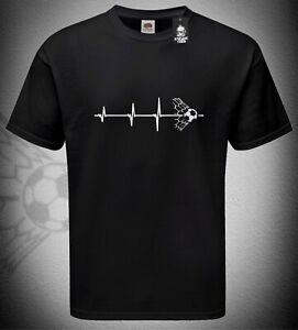 Mens Heartbeat Ball Football T-Shirt Euro 2020 Supporter Fan TShirt