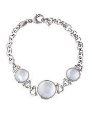 Fossil Silver Tone Moon Drop Chain Link Bracelet #238