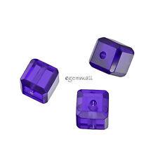 6 CZ Cubic Zirconia 6mm Cube Beads Purple #64966