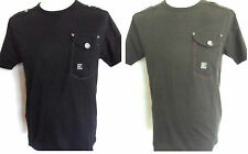 Crew Neck Mens T-Shirts Khaki and Black Size: Small DUCK & COVER